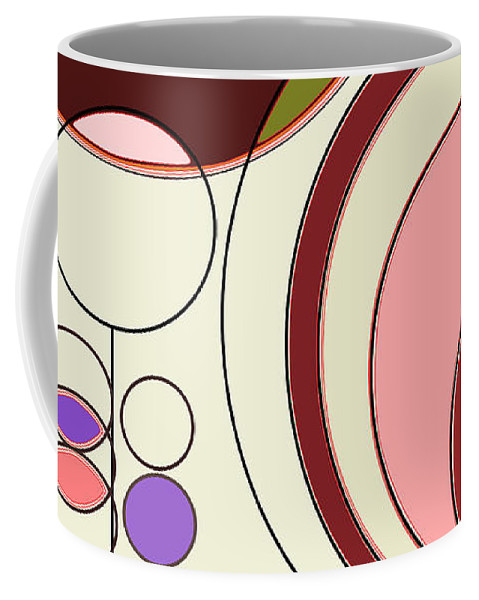 Deco Coffee Mug featuring the digital art Deco Circles by Mary Bedy