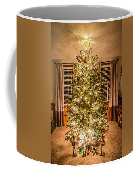 christmas Decoration Coffee Mug featuring the photograph Decorated Christmas Tree by Alex Grichenko
