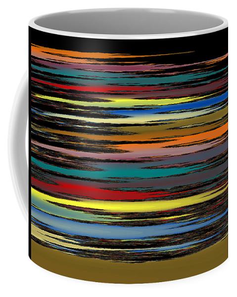Fractal Coffee Mug featuring the digital art Deep Color Field 2 by Mark Greenberg