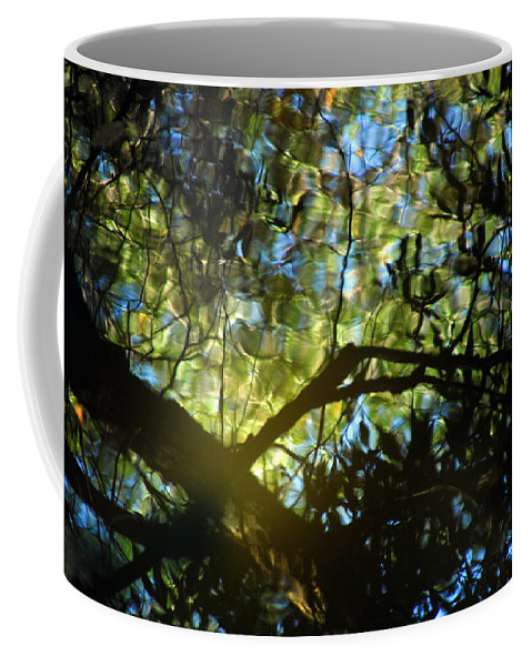 Abstract Coffee Mug featuring the photograph Deep Forest Light by Donna Blackhall