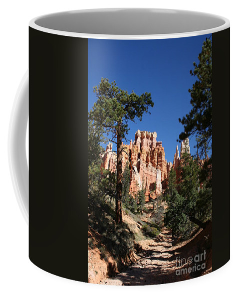 Canyon Coffee Mug featuring the photograph Deep In The Bryce Canyon by Christiane Schulze Art And Photography