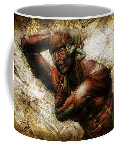 Male Coffee Mug featuring the digital art Deep In Thought by Adam Vance