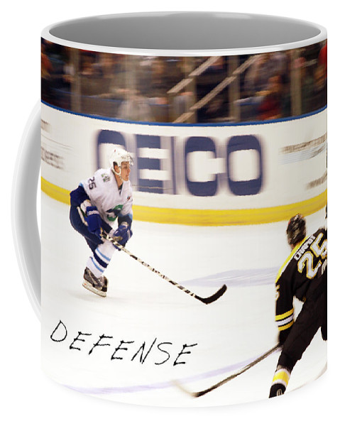 Ice Hockey Coffee Mug featuring the photograph Defense by Karol Livote
