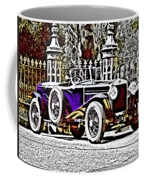 Car Coffee Mug featuring the photograph Delage Co2 Dupla Cowl Tourer by Lyriel Lyra