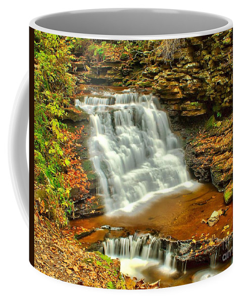 Waterfall Coffee Mug featuring the photograph Delaware Falls - Ricketts Glen by Nick Zelinsky