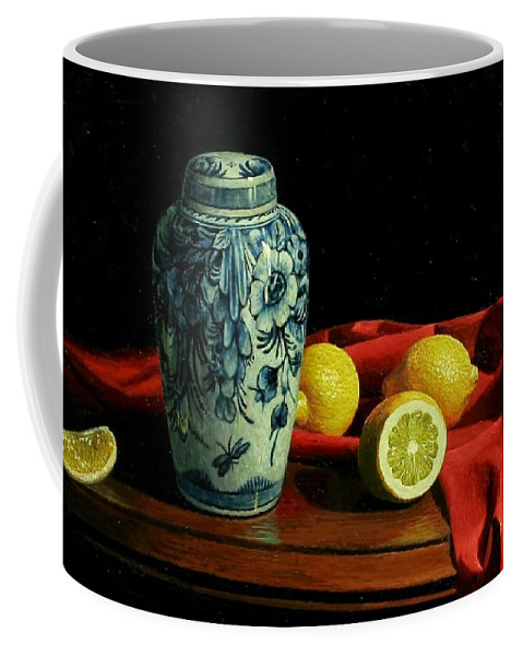 Delft Coffee Mug featuring the painting Delft by Bruno Capolongo