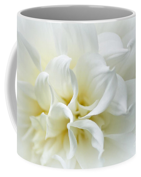 Delicate White Softness Coffee Mug featuring the photograph Delicate White Softness by Kaye Menner