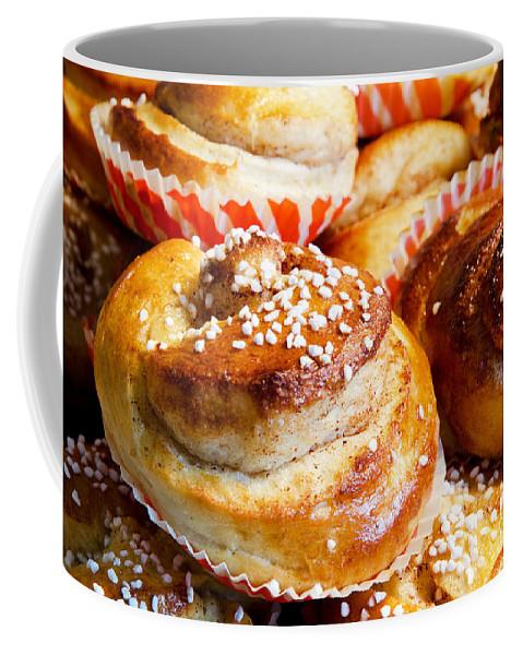 Bun Coffee Mug featuring the photograph Delicious by Kennerth and Birgitta Kullman