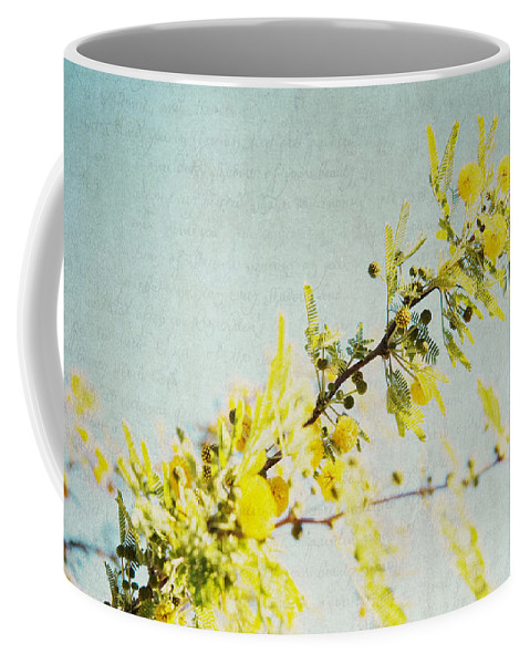 Yellow Blossoms Coffee Mug featuring the photograph Delight by Lisa Parrish