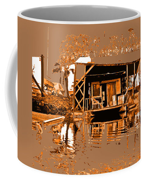 Delta Prints Coffee Mug featuring the digital art Delta Homestead by Joseph Coulombe