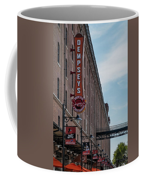 Baltimore Coffee Mug featuring the photograph Dempseys Brew Pub by Susan Candelario