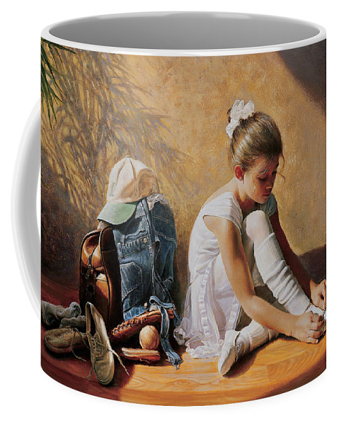 Dancer Coffee Mug featuring the painting Denim to Lace by Greg Olsen