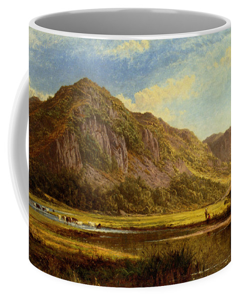 Benjamin Williams Leader Coffee Mug featuring the digital art Derwent Water Cumberland by Benjamin Williams Leader