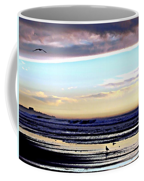 Digital Paint Effect Coffee Mug featuring the photograph Descendants As Many As The Sand On The Shore Of The Sea by Sharon Tate Soberon