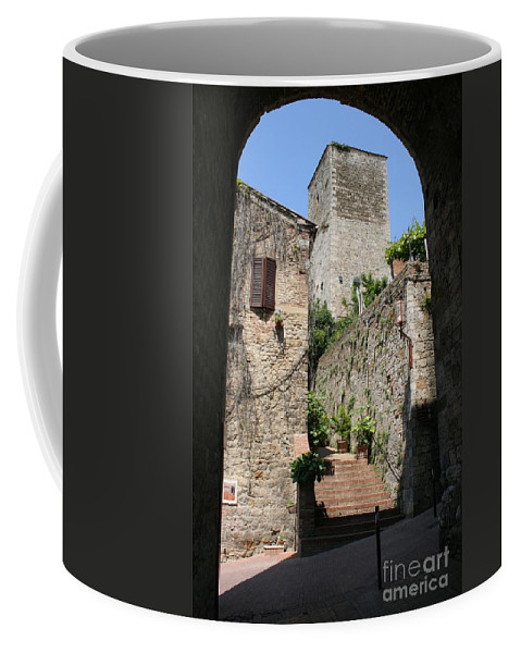 Way Coffee Mug featuring the photograph Desert Alley In San Gimignano by Christiane Schulze Art And Photography