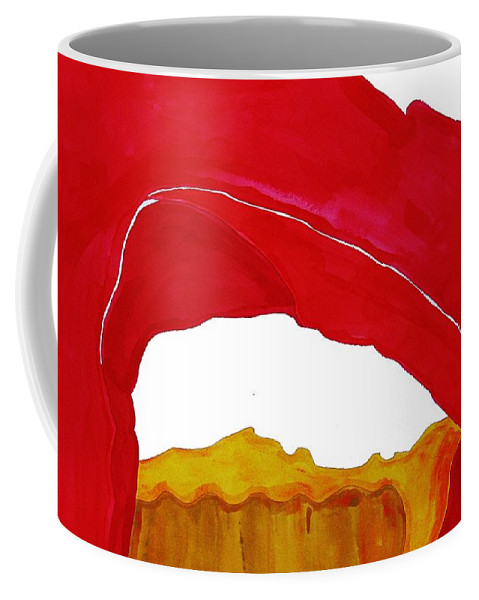 Desert Arch Coffee Mug featuring the painting Desert Arch Original Painting Sold by Sol Luckman