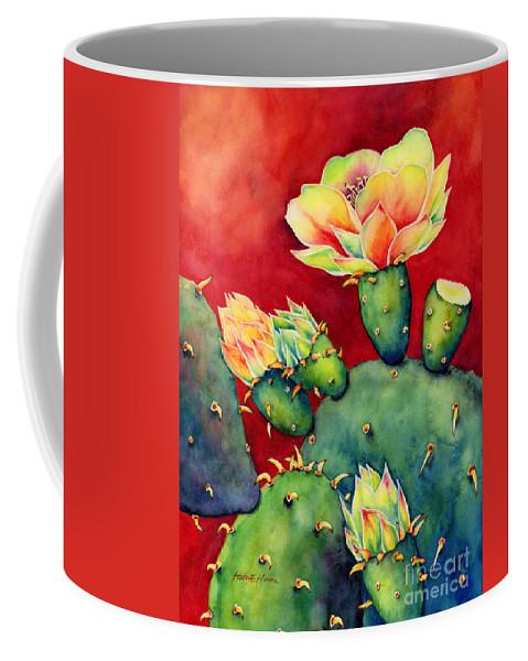 Cactus Coffee Mug featuring the painting Desert Bloom by Hailey E Herrera