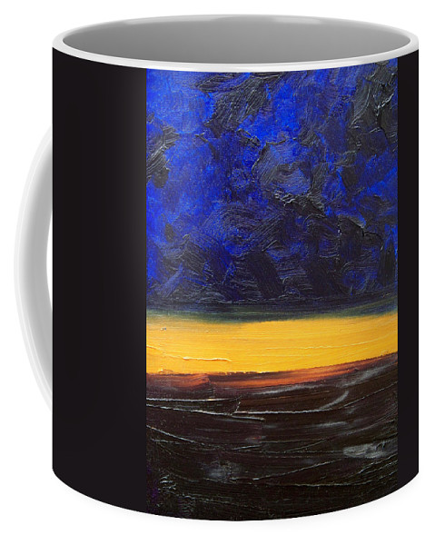Landscape Coffee Mug featuring the painting Desert Plains by Sergey Bezhinets