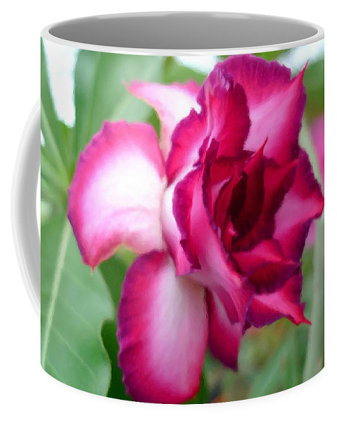 Desert Rose Coffee Mug featuring the painting Desert Rose by Jeelan Clark