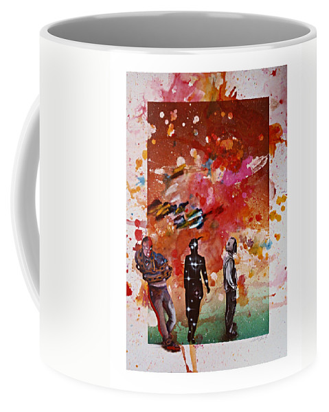 Secret Identity Coffee Mug featuring the painting Design For Secret Identity 1981 by Charles Stuart
