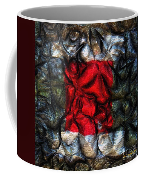 Abstract Coffee Mug featuring the painting Desire Squared by RC DeWinter