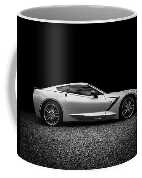 Corvette Coffee Mug featuring the digital art 2014 Corvette Stingray by Douglas Pittman