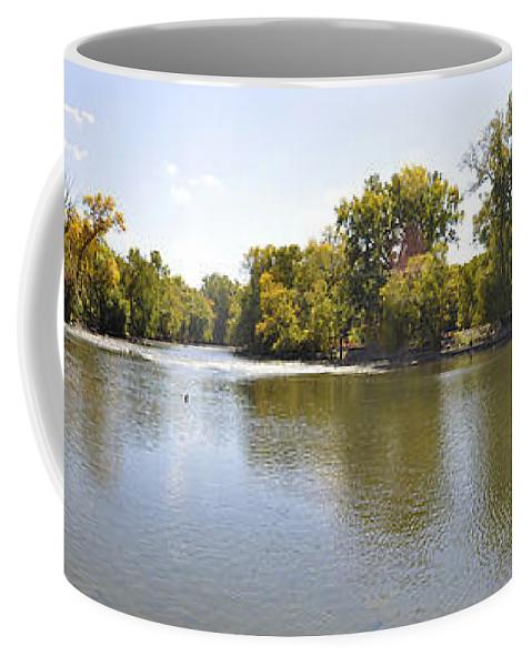 Panorama Coffee Mug featuring the photograph Desplaines River by Verana Stark
