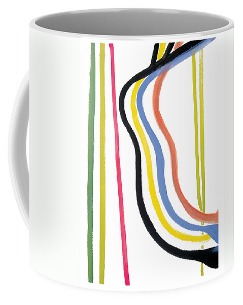 Abstract Coffee Mug featuring the painting Destiny by Bjorn Sjogren