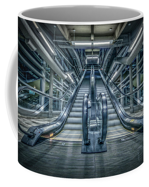 Escalator Coffee Mug featuring the photograph Destiny by Everet Regal
