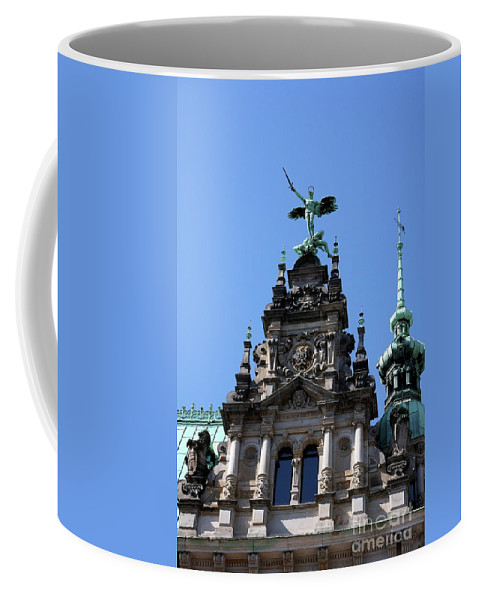 City Hall Coffee Mug featuring the photograph Detail City Hall Hamburg by Christiane Schulze Art And Photography
