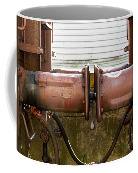 Train Coffee Mug featuring the photograph Detail Of Bumper by Michal Boubin