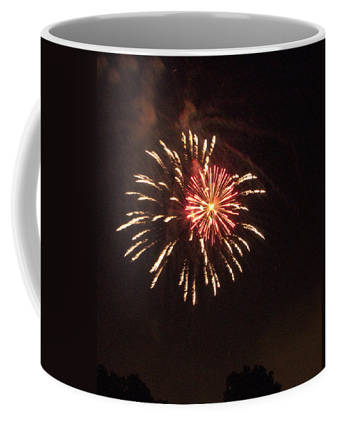 Cities Coffee Mug featuring the photograph Detroit Area Fireworks -1 by Paul Cannon