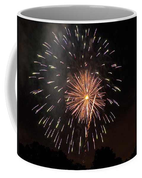 Cities Coffee Mug featuring the photograph Detroit Area Fireworks -10 by Paul Cannon