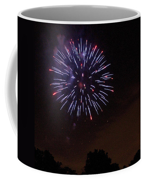 Cities Coffee Mug featuring the photograph Detroit Area Fireworks -9 by Paul Cannon