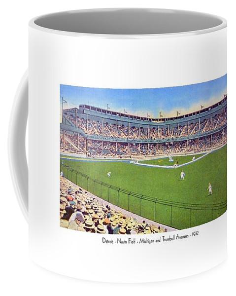 Detroit Coffee Mug featuring the digital art Detroit - Navin Field - 1922 by John Madison