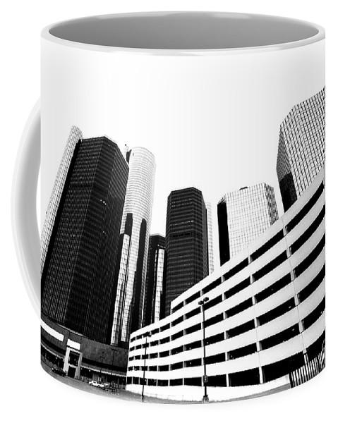 Detroit Coffee Mug featuring the photograph Detroit Ren Cen by Steven Dunn