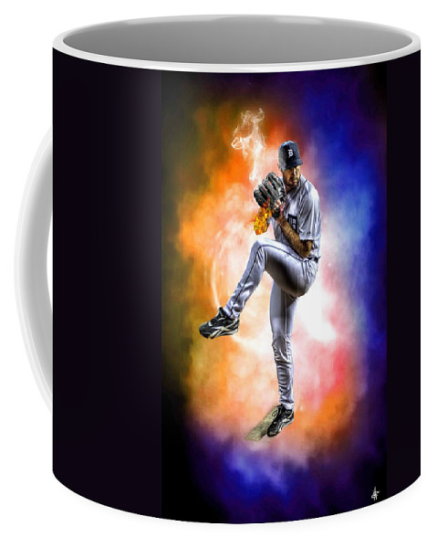 Justin Verlander Coffee Mug featuring the photograph Detroit Tiger Justin Verlander by A And N Art