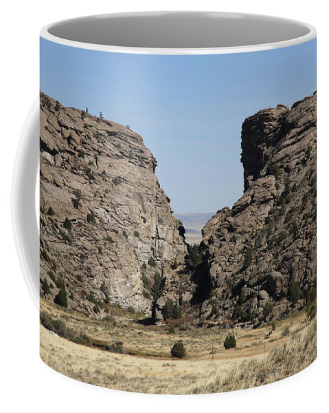 America Coffee Mug featuring the photograph Devil's Gate - Wyoming by Frank Romeo