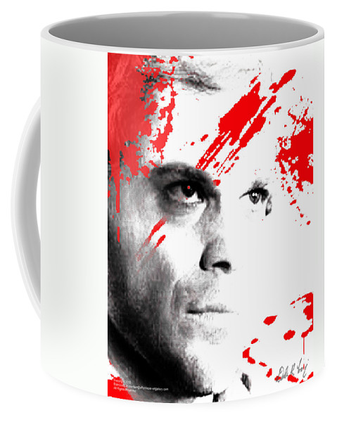 Dexter Coffee Mug featuring the digital art Dexter Dreaming by Dale Loos Jr