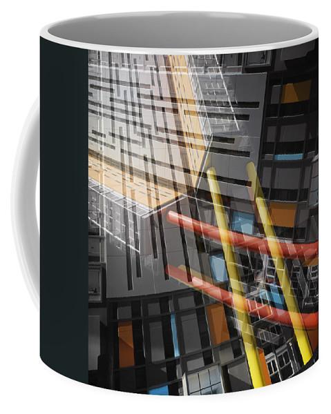 Abstract Coffee Mug featuring the photograph Diagonal Mondrian by Wayne Sherriff