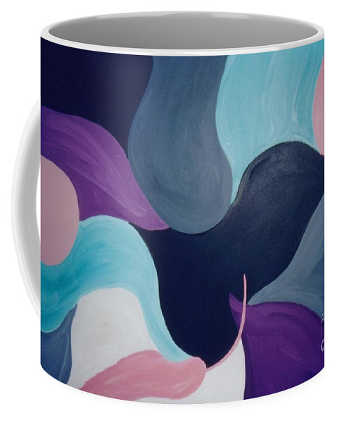 Abstract Coffee Mug featuring the painting Dialogue by Graciela Castro