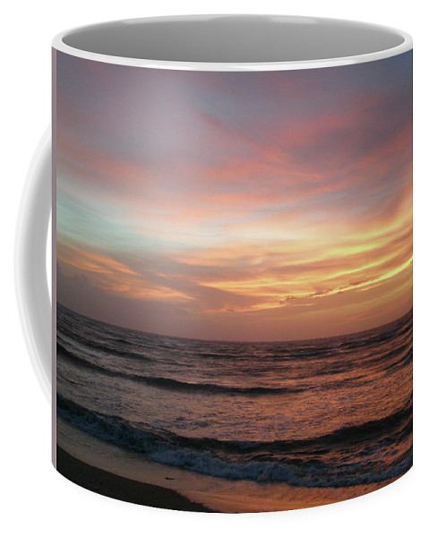 Sunset Coffee Mug featuring the photograph Diamond Shoals Sunset - Outer Banks Nc by Mother Nature