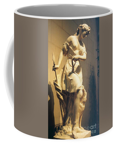 Diana Coffee Mug featuring the painting Diana Goddess Of The Hunt by Eric Schiabor