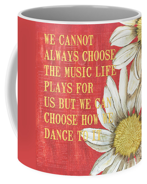 Flower Coffee Mug featuring the painting Dictionary Floral 1 by Debbie DeWitt