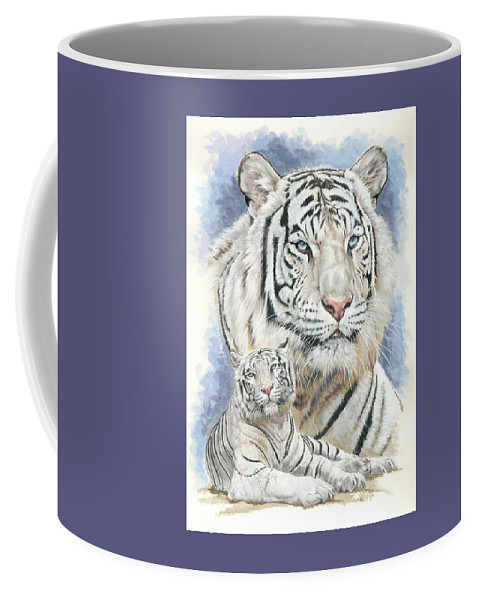 Big Cat Coffee Mug featuring the mixed media Dignity by Barbara Keith