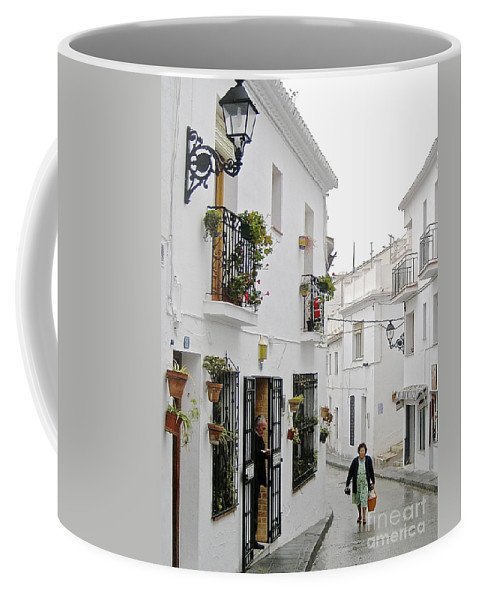 Spain Pueblos Blancos Andalusia Coffee Mug featuring the photograph Dinner Delivery by Suzanne Oesterling