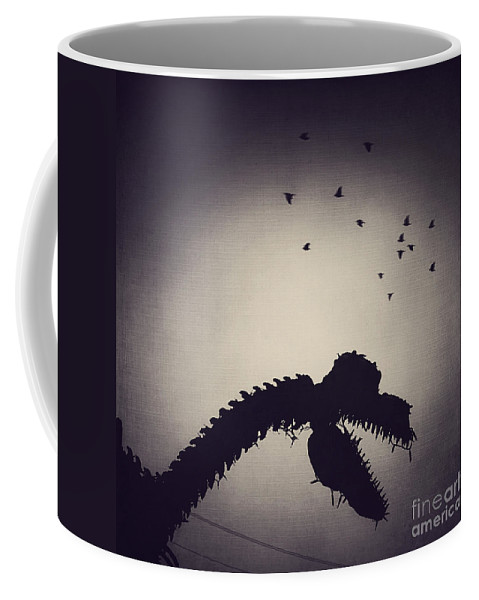 Dinosaur Coffee Mug featuring the photograph Dino In The City by Trish Mistric