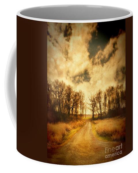 Tree Coffee Mug featuring the photograph Dirt Road by Jill Battaglia