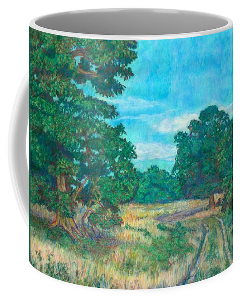 Landscape Coffee Mug featuring the painting Dirt Road Near Rock Castle Gorge by Kendall Kessler