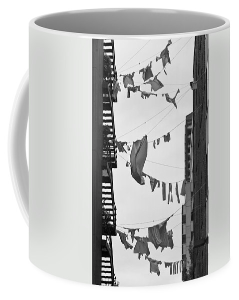 Hanging Laundry Coffee Mug featuring the photograph Dirty Laundry by Scott Campbell